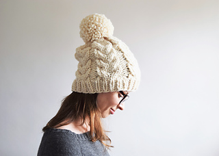 0ce41ae9bc0 Ravelry  Chunky Cabled Hat pattern by Destiny Meyer