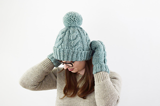 ba4074cd487 Ravelry  Classic Cabled Hat and Mittens pattern by Destiny Meyer