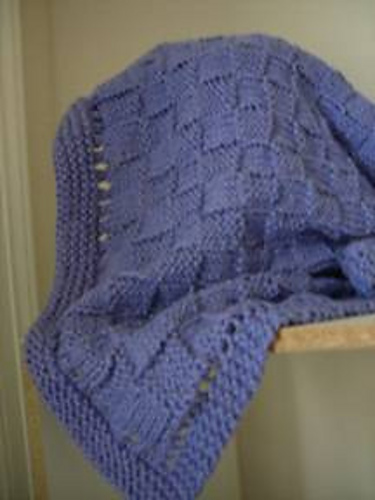 Ravelry: Easy Basket Weave Baby Blanket pattern by Melissa Leedom
