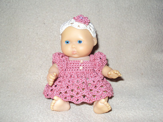Ravelry Shell Stitch Dress And Hat For 5 Inch Baby Dolls Pattern By
