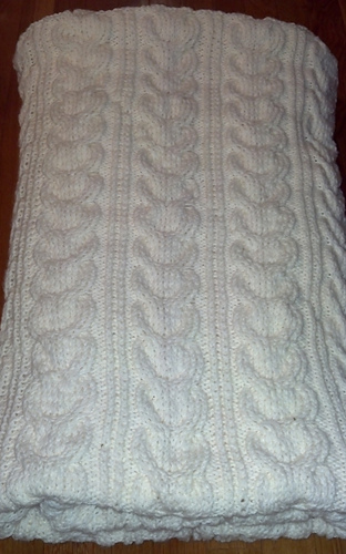 Ravelry Pottery Barn Cable Knit Throw Pattern By Lauren Savidge