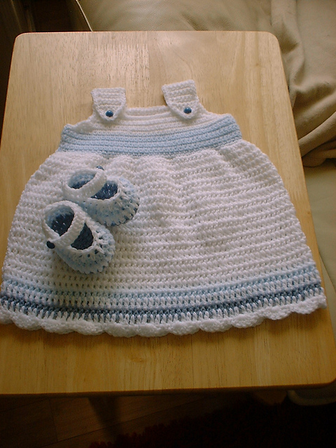 3c8005ac671 Ravelry  Baby Sun Dress and Shoes pattern by Angela Turner