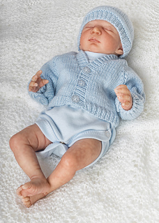 31fd4b510b6 Ravelry  Premature Baby 10 inch Cardi and Hat pattern by Angela ...