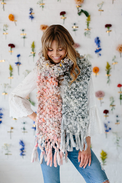Ravelry Counting Sheep Scarf Pattern By Amy Small