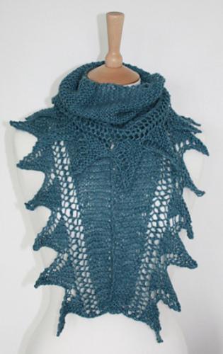 Knitting Goddess : Ravelry shark tooth shawl in dk pattern by joy mcmillan