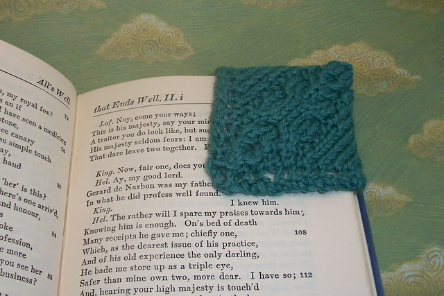 Ravelry Cable Knit Corner Bookmark Pattern By Kara L Mayfield
