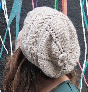 Ravelry  Aran crochet Jehanne slouchy hat pattern by Knitisfun ... 2394bc591bf