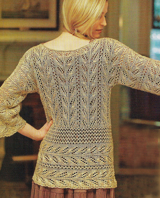 Ravelry Wakame Lace Tunic Pattern By Angela Hahn