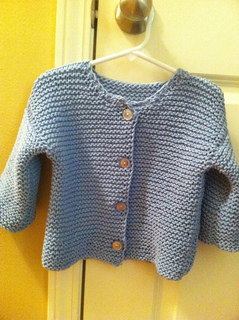 a85ba24afd Ravelry: Garter Stitch Baby Cardigan pattern by Colleen Kadleck