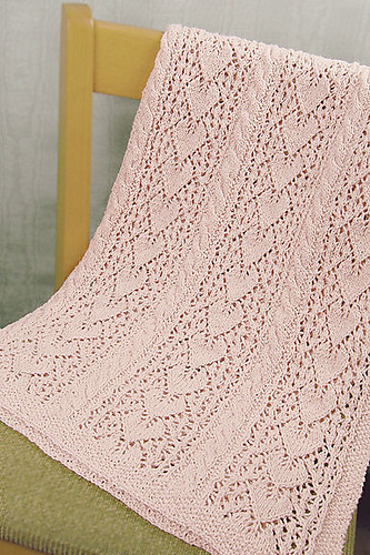 Ravelry Heirloom Hearts Baby Blanket Pattern By Hlne Rush