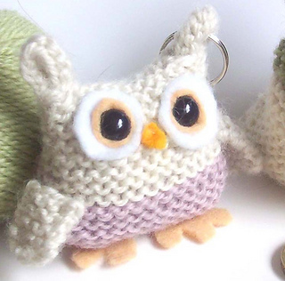 Ravelry: 'Bill the Owl' Knitted Owl Keyring pattern by ...