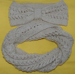 8e87dd6e3 Ravelry  DK – Twisted Lacy Headband   Cowl pattern by Knits-r-us