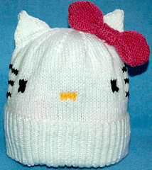 aafa93290d6 Aran – Adult Kitty Cat Hat  by Knits-r-us