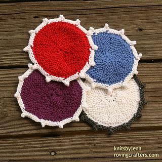 Knit Coaster Pattern : Ravelry: Coasters in Color pattern by Jen Zeyen