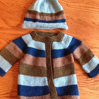 4a0319f24bb2 Ravelry  Fuss Free Baby Cardigan pattern by Louise Tilbrook