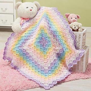 Ravelry Pastel Rainbow Baby Blanket Pattern By Herrschners