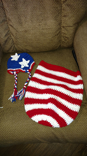 Ravelry Patriotic Baby Cocoon Amp Hat Crochet Pattern