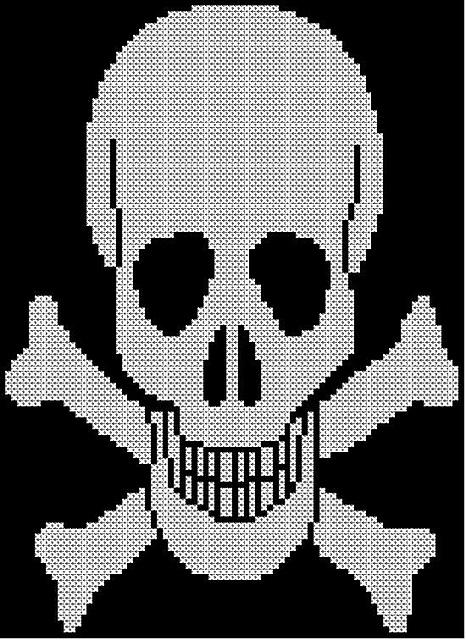 Ravelry Childrens Adults Skull Crossbones Jumper Sweater