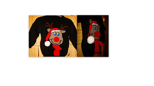 Novelty Christmas Jumpers Knitting Pattern : Ravelry christmas novelty rudolph reindeer jumper