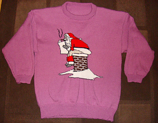 Ravelry Christmas Santa Sitting On Chimney Jumper