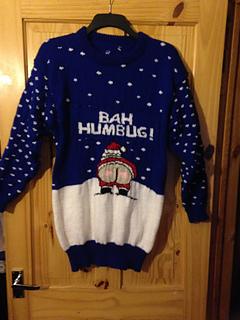 Ravelry Christmas Cheeky Naughty Santa Bah Humbug Jumper