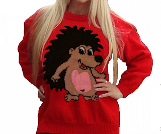 fe4e1a18b Ravelry  Cartoon Hedgehog Jumper pattern by Blonde Moments
