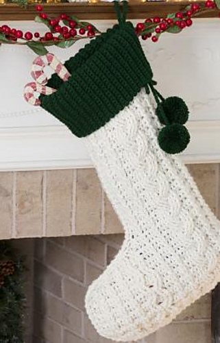 Ravelry Cable Crochet Stocking Pattern By Mary Jane Protus Gorgeous Free Crochet Christmas Stocking Patterns