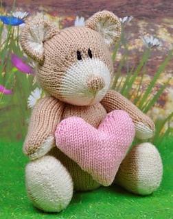 13e0607bba8b Ravelry  Heartfelt Bear pattern by Knitting by Post