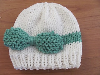 2dc838e39 Ravelry  Knitted Baby Bow Hat pattern by Jenna Jones