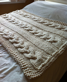 70b0362cf Ravelry  Cable Knit Blanket pattern by Knitting Revolution