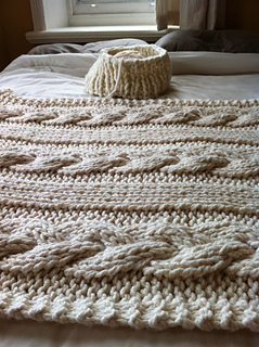 knitting revolution - Cable Knit Throw