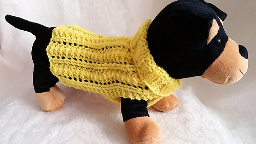 Ravelry Easy Lace Dog Sweater Pattern By Debby Decker