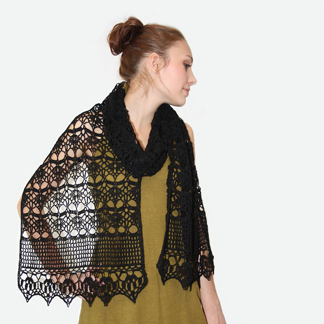 Ravelry Midnight Wrap Pattern By Kim Miller