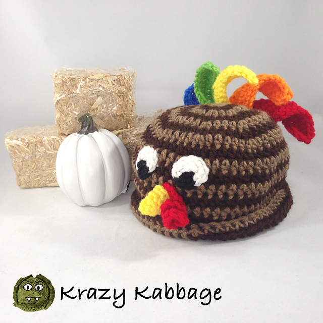 Ravelry Little Turkey Hat Pattern By Krazy Kabbage
