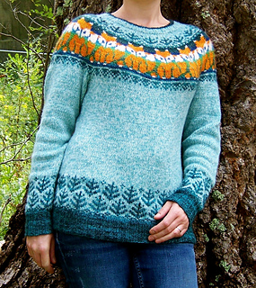 Foxy Sweater pattern by Natalia Moreva