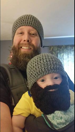 Ravelry Newborn To Adult Beard Beanie Pattern By Kylie Marie Brown