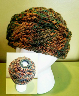 Ravelry  Chunky Cabled Messy Bun Hat pattern by CrochetISM Designs 5d2400e21c9