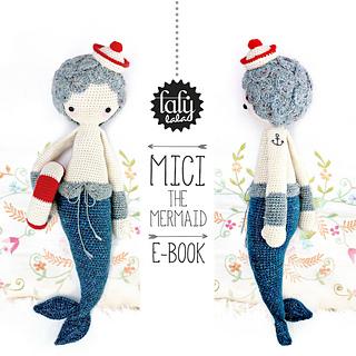 Amigurumi Dolls By Artist Lydia Tresselt : Ravelry: lalylala MICI the mermaid pattern by Lydia Tresselt