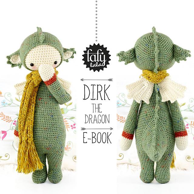 Ravelry: lalylala DIRK the dragon / dinosaur pattern by Lydia Tresselt