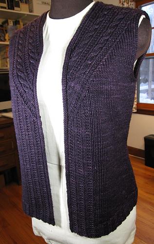 Ravelry: Stonybrooke Vest pattern by Valerie Hobbs