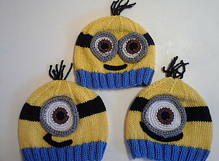 Ravelry  Minion Hats pattern by Lauren Irving 96c09fde6bd