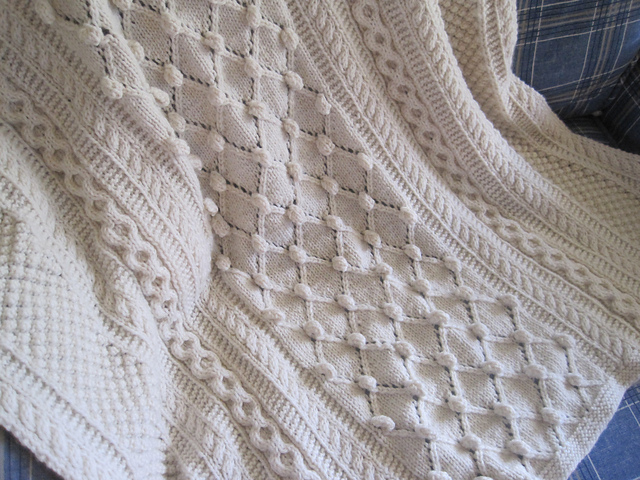 Ravelry Diamonds And Bobbles Afghan Pattern By Lee Gant
