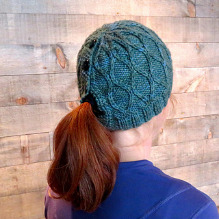 Ravelry  Trellis Ponytail   Messy Bun Hat pattern by Lena Mathisson a8bbba52ae6
