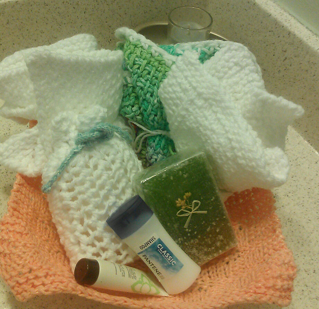Ravelry Spa Cloth And Soap Bag Set With Photo Tutorials Pattern By