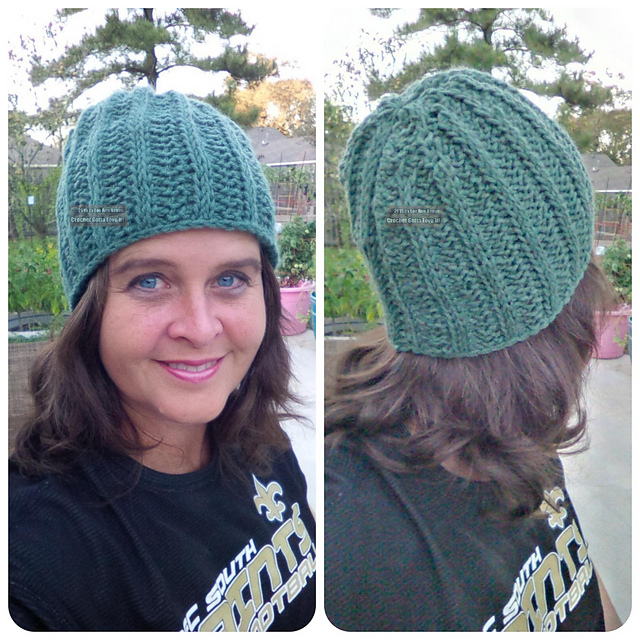 Ravelry Lhamms Lee Anns Tunisian Ribbed Hat