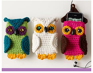 Ravelry Owl Cell Phone Cozy Pattern By Linda Cyr
