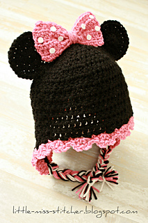 Ravelry  Toddler Minnie Mouse Earflap Hat pattern by Little Miss ... dcc27032370