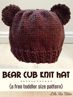 Ravelry Bear Cub Toddler Hat Pattern By Little Miss Stitcher