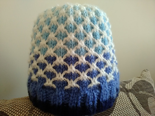 440566d5d4dc83 Ravelry  Two-tone lattice pattern by Knitting Fool