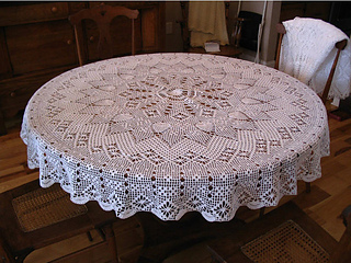 Engagement Round Tablecloth pattern by Elizabeth Hiddleson